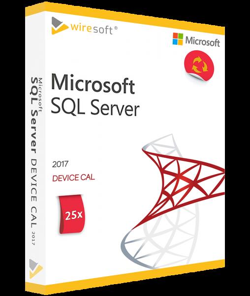 MICROSOFT SQL SERVER 2017 - 25 PACK DEVICE CAL