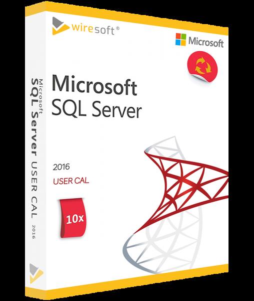 MICROSOFT SQL SERVER 2016 - 10 PACK USER CAL