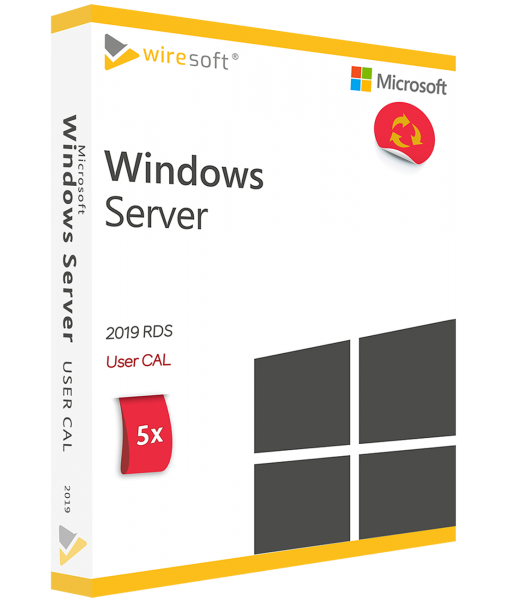 MICROSOFT REMOTE DESKTOP SERVICES 2019 - 5 PACK USER CAL